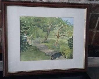 Large Original Watercolour Painting Picture 'Summer Afternoon' Ruth Fowke