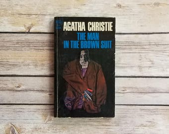Crime Novel The Man In The Brown Suit Agatha Christie Fiction Diamond Thieves Thriller Novel South African Tale 1960s Paperback Christie