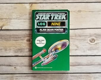 Star Trek Log Nine Adventures Aboard The USS Enterprise Star Trek Book Series Sci Fi Series Trekkie Gift Life Forms Space Travel Geek Book