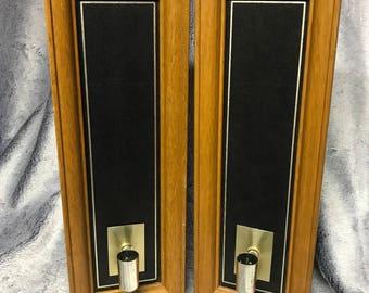 Vintage Candle Holders (Pair)