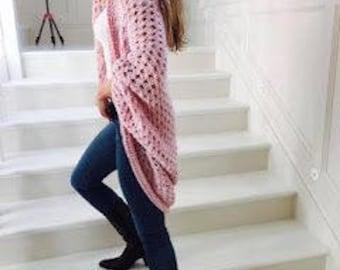 Kimora Cacoon Cardigan in Tuplic Pink