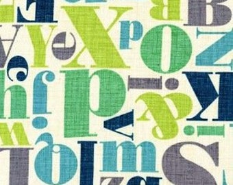 Michael Miller Just My Type - Letterpress Breeze