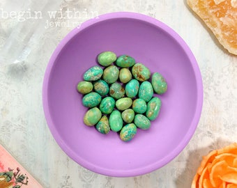 Green Turquoise Tumbled Stone | Natural Turquoise Rock, Turquoise Nugget | Raw Crystals and Stones