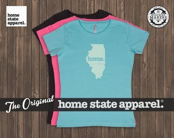 Illinois Home. T-shirt- Women's Relaxed Fit