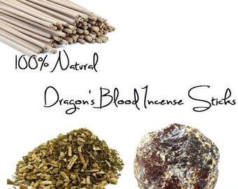 ON SALE NEW Dragon's Blood Incense Sticks No Charcoal or Saltpeter 100% Natural set of 12