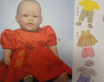 15 Inch Baby Doll Clothes Pattern Simplicity #7066