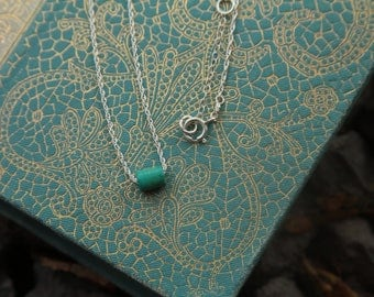 Teeny Turquoise Sterling Silver Necklace