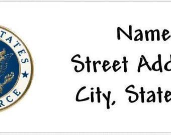Air Force Emblem Personalized Return Address Labels Buy 3 Get 1 Free