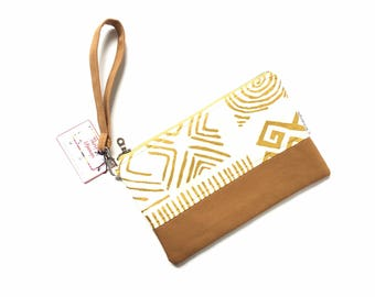gold wristlet, african bag, clutch purse, clutch bag, evening bag, clutch bags for women, african purse, iphone wristlet, cellphone wristlet