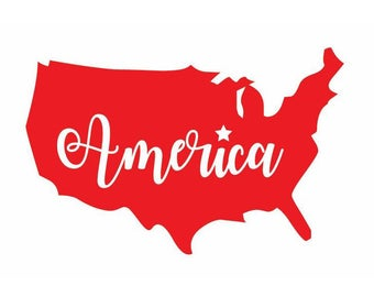 America Car Decal, United States Decal, America Sticker, Car Decal, Car Sticker, USA Sticker, America Decal, USA, Laptop Decal, Epsteam