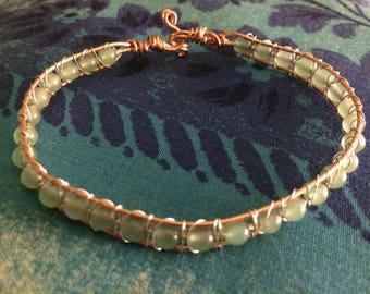 Sterling Silver on Copper Snake Weave Bracelet