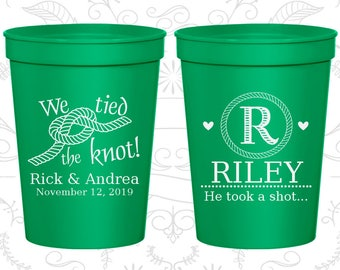 Green Stadium Cups, Green Cups, Green Party Cups, Green Wedding Cups (561)
