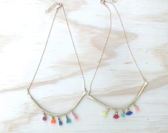 Tassel bib necklace