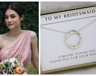 Bridesmaid gift from bride, maid of honor gift, bridesmaid jewelry with meaning, gift for bridesmaid - Lilia