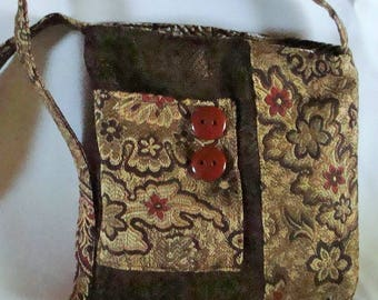 Classy brown crossbody bag