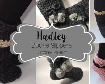 Crochet Pattern // Hadley Booties Slippers // Easy