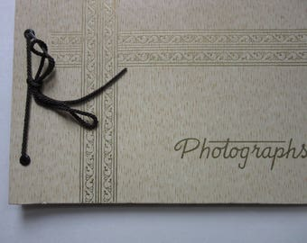 "vintage photo album / 7"" x 10"" / 20 pages"