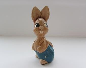 """Pendelfin Rabbit Figurine """"Robert"""", Vintage Pendelfin Figurine, Pendelfin England, Stone Crafted Pendelfin Rabbit Figurine, Robert Rabbit"""