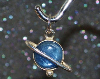 Kyanite and Moonstone Planetismal Pendants - Choose a Size!