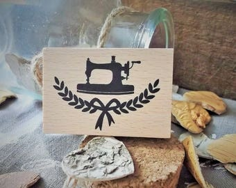 Wooden stamp sewing theme new sewing machine