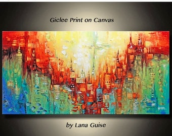 Summer Sale GICLEE PRINT Beyond this Horizon Ready to Hang of Original Abstract Painting by Lana Guise