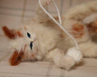 NOW SOLD..needle felted kitten