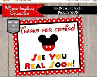 SALE INSTANT DOWNLOAD Printable Mouse 8x10 Thanks for Coming See Ya Real Soon Sign / Mouse Classic Collection / Item #3303