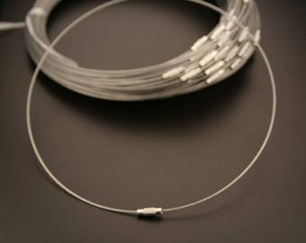 grey twisted wire 6 necklaces. (ref:3654)