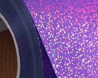 "Holographic Violet 20"" Heat Transfer Vinyl Film By The Yard"