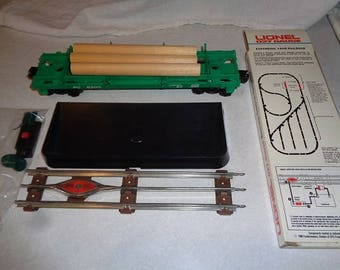 Lionel trains,Automatic log dump car and remote control track  for 027 gauge sets