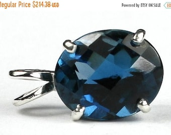 On Sale, 30% Off, London Blue Topaz, 925 Sterling Silver Pendant, SP040
