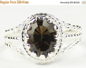 On Sale, 30% Off, Smoky Quartz, 925 Sterling Silver Ladies Ring, SR070
