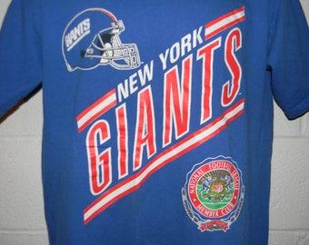 Vintage 90s Nutmeg New York Giants T-Shirt Large