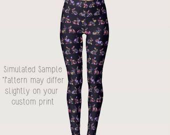 Bunny Bunnies Rabbit Leggings, Custom Printed, Stretchy Spandex, Yoga Pants, Full Length, Easter, Holiday, Pet - XS-XL-Bunnies 2