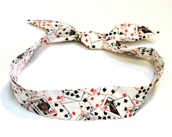 Personal Neck Cooler Scarf, Stay Cool Tie Bandana Wrap, Body Head Heat Relief Cooling Band, Reusable,Playing Cards,Poker,Black Jack iycbrand