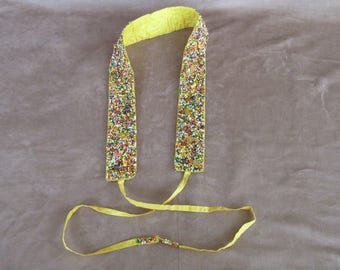 Vintage Hand Made Beaded Belt, Fabric