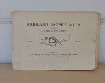 Highland Bagpipe Music Book, Vintage, 1929 Bagpipe Music Collection