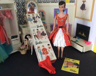 Dark Brown Hair Ponytail Swirl Barbie With Garden Tea Party,Box & Much More #52