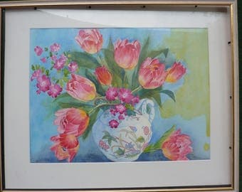 Watercolor - Tulip Vase