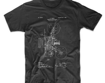 Projecting Kinetoscope Patent T Shirt, First Movie Projector, Movie Lover Gift, Cinema Shirt, Movie Shirt, Film Director, PP1000