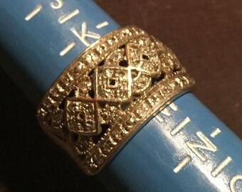 1920s 9 Carat Gold Dress Ring Size L