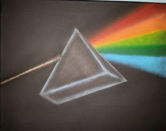 Pink Floyd Pastel 3D Painting