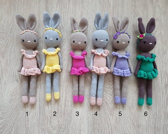 Crochet bunny, crochet toy, amigurumi bunny, crochet rabbit, newborn gift, baby girl, baby boy