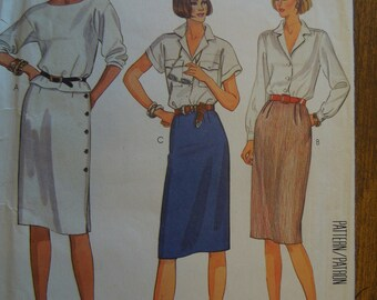 McCalls 2340, size 12, skirts, misses, womens, UNCUT sewing pattern