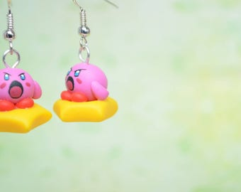 Kirby Earrings Inspired by the Videogame Classic