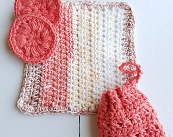 Crocheted, Eco-Friendly Bath Set