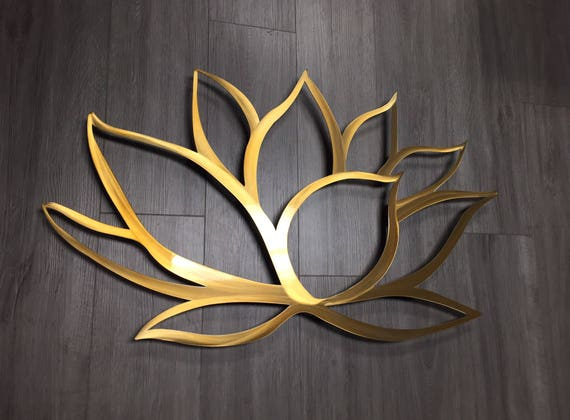 Lotus Flower Wall Art gold lotus flower metal wall art lotus metal art home