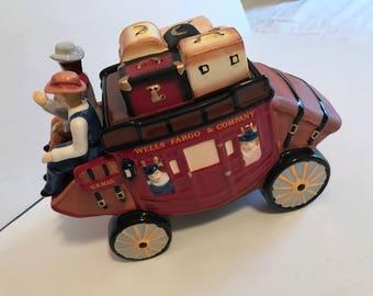 Cute Wells Fargo stagecoach cookie jar