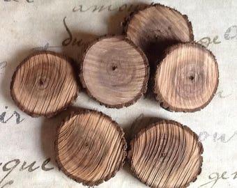 "Walnut wood branch slice 3"""