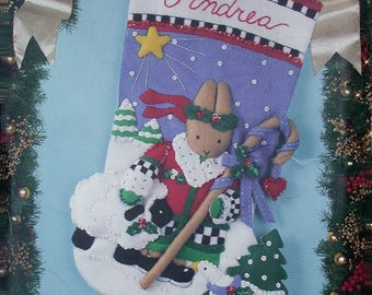 "Noel Bunny 18"" Felt Christmas Stocking Kit #83012"